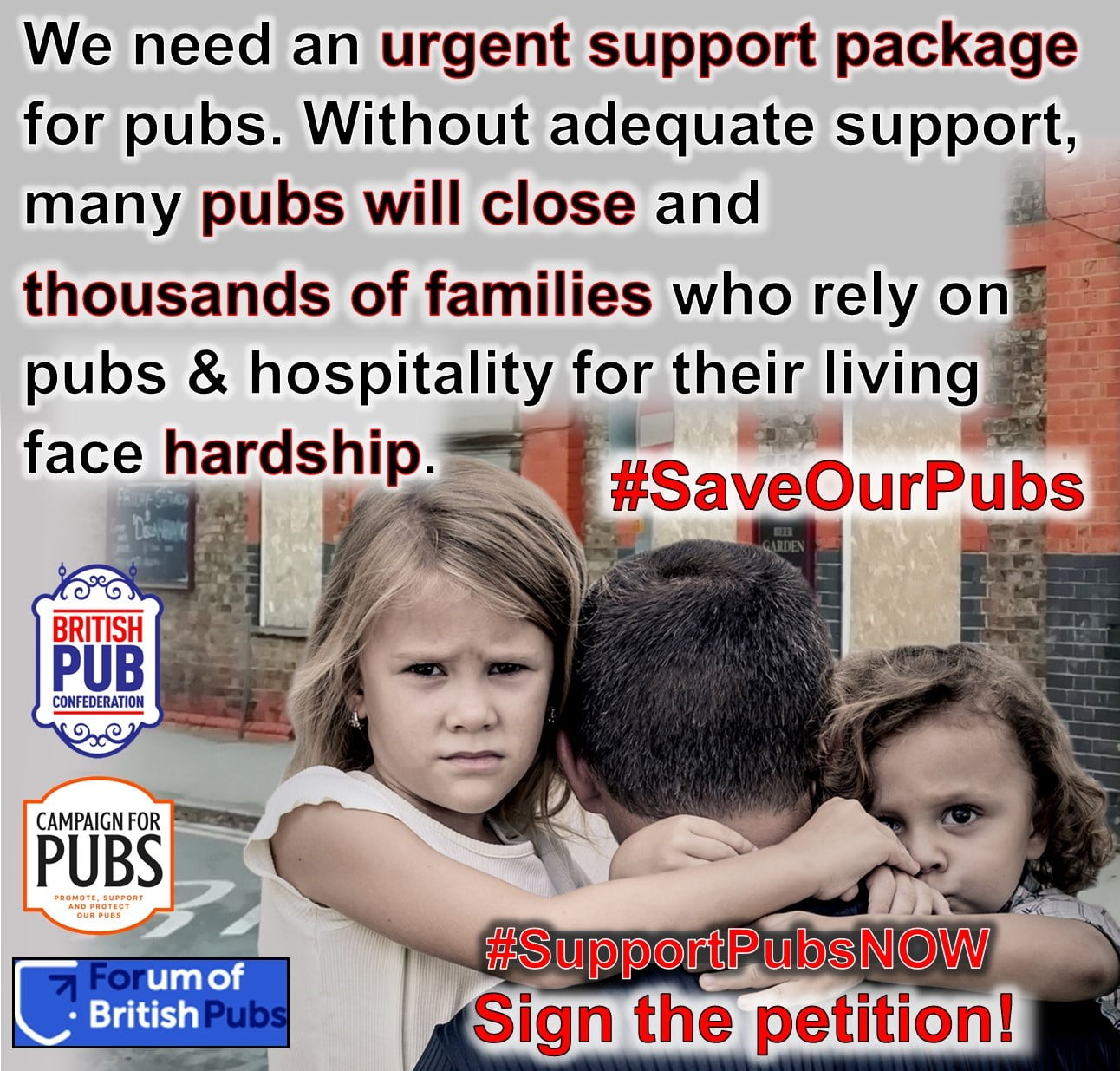 Support Our Pubs NOW! Coalition of pro-pub organisations launches petition for an urgent package of support to save pubs